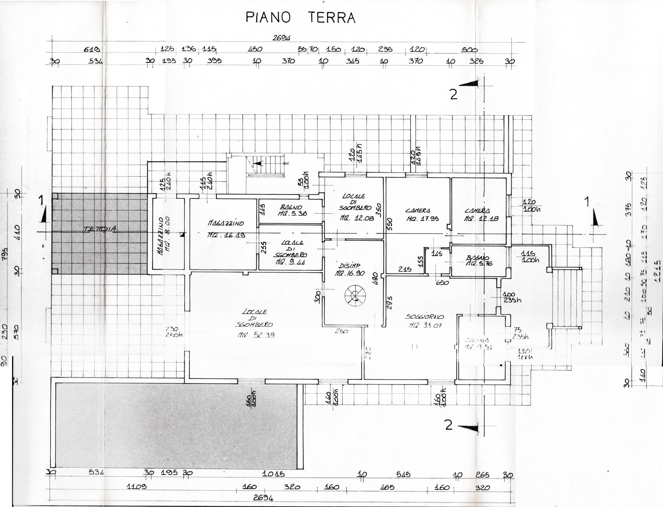 Planimetria 3/5 per rif. V1204