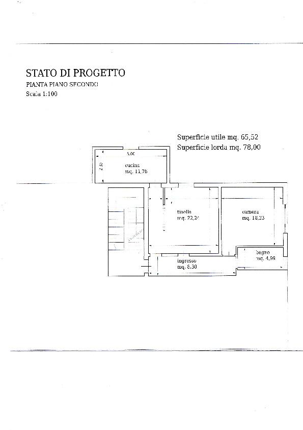Appartamento in vendita, rif. V1254 (Planimetria 1/4)