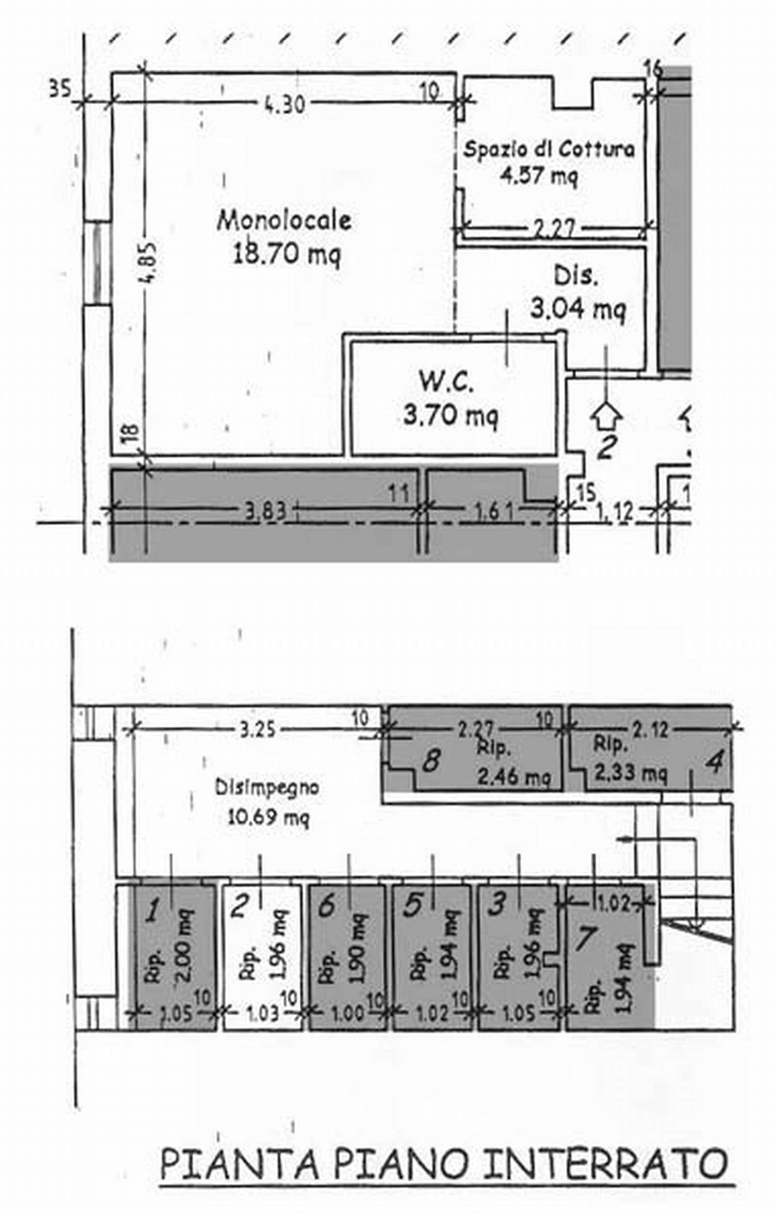 Planimetria 1/2 per rif. 2704-08