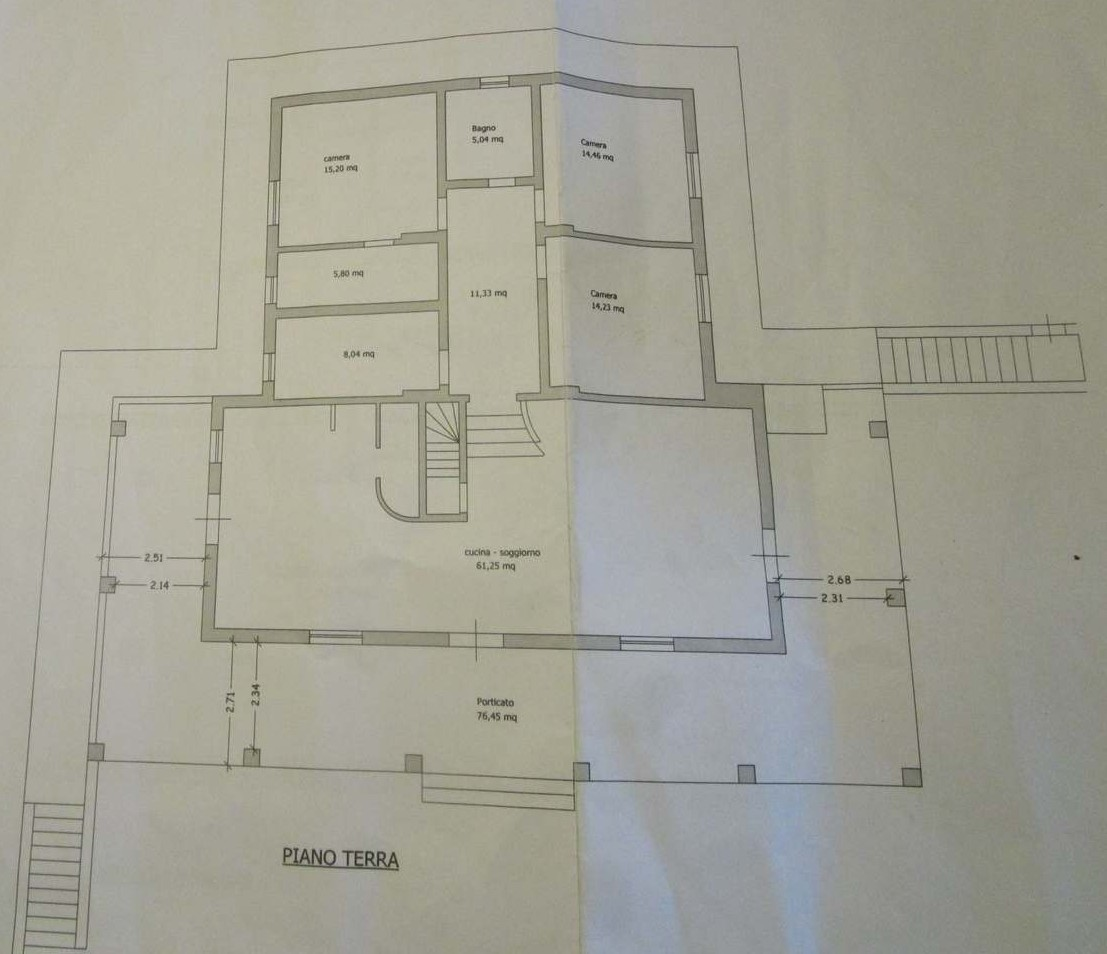 Planimetria 2/3 per rif. 7092