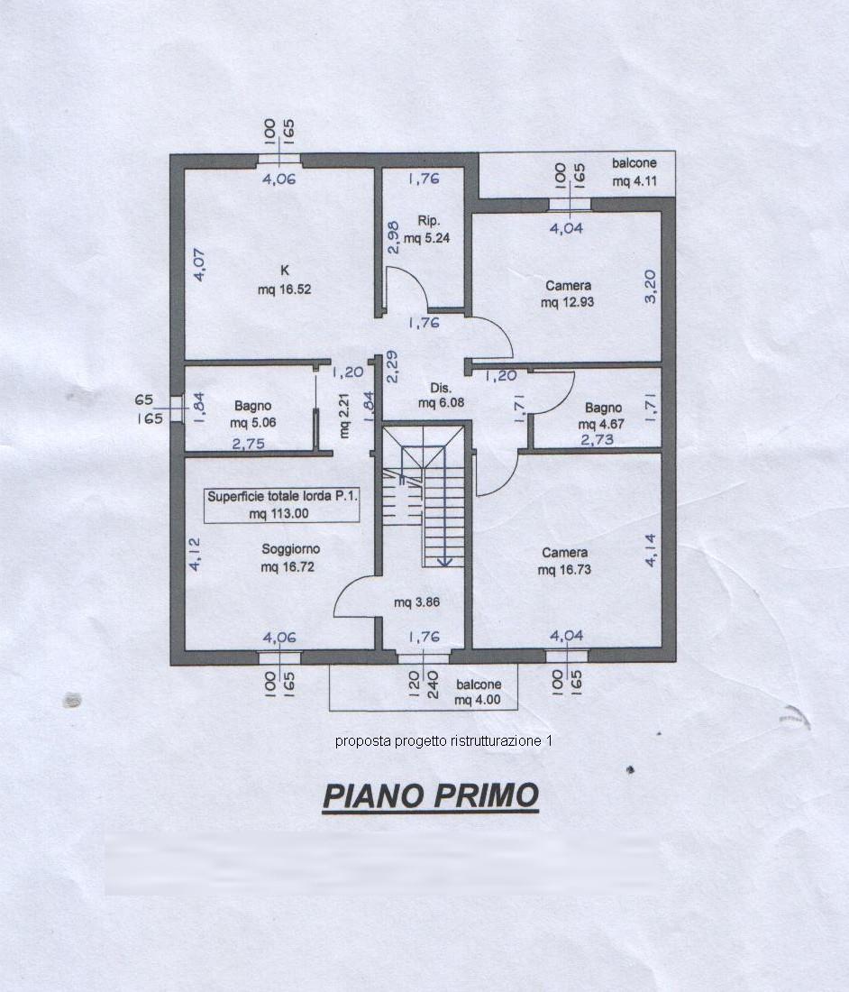 Planimetria 4/4 per rif. 7886
