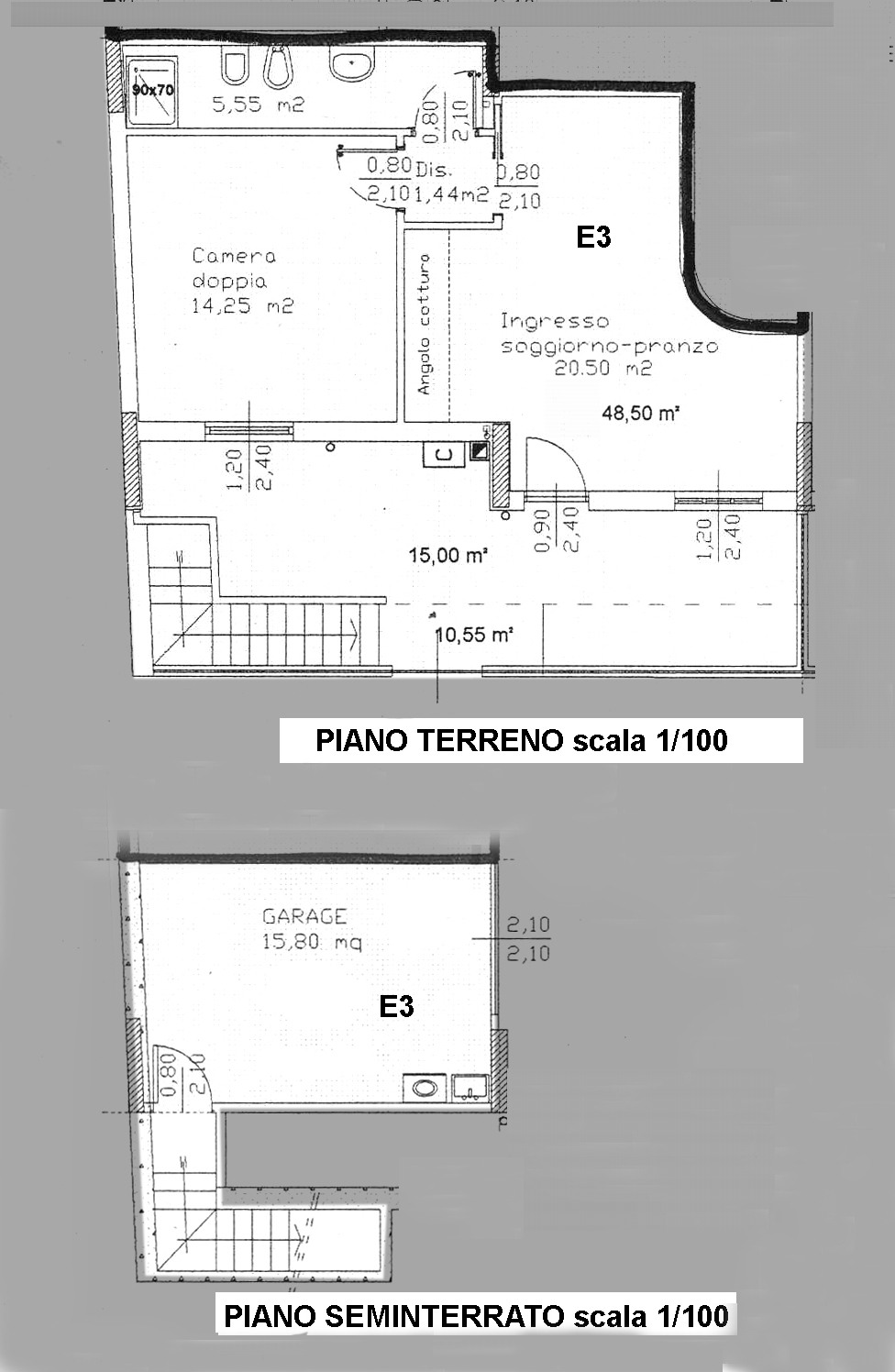 Planimetria 1/2 per rif. 3688-01