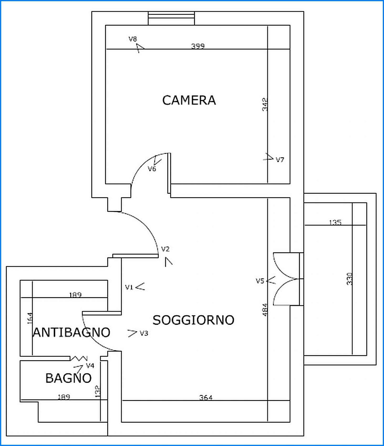Planimetria 1/2 per rif. 6944 - 02