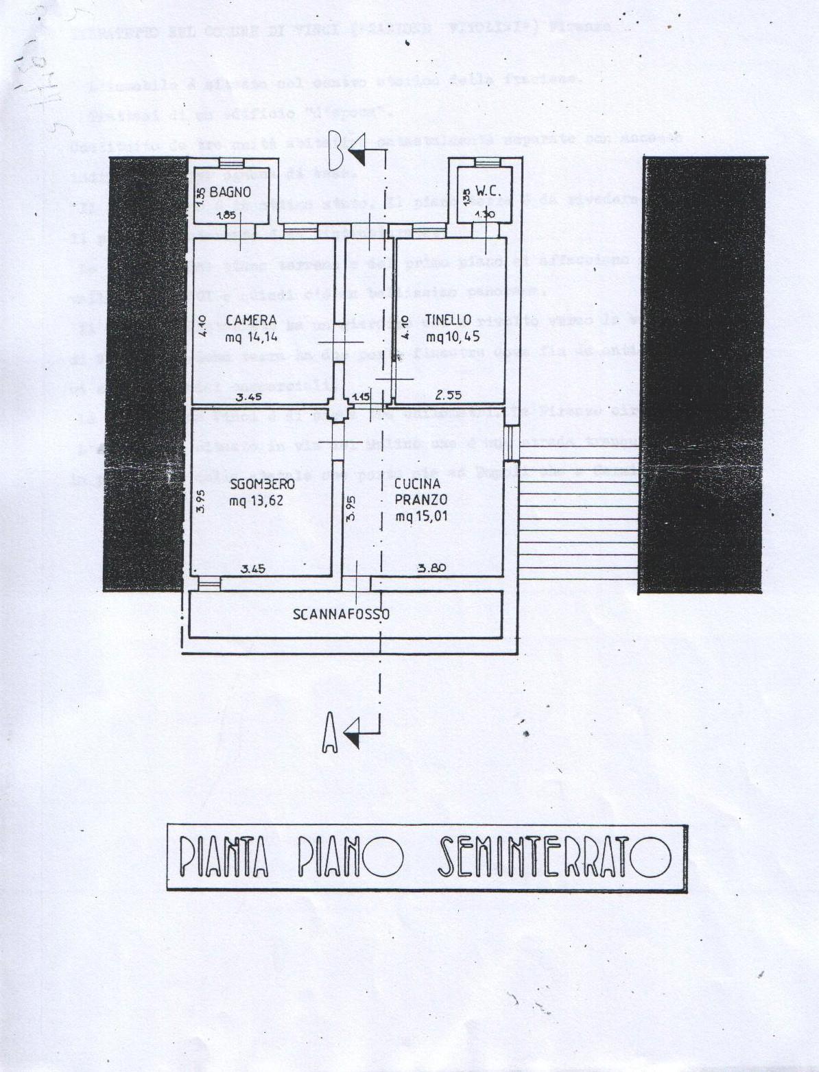 Planimetria 2/3 per rif. 8128