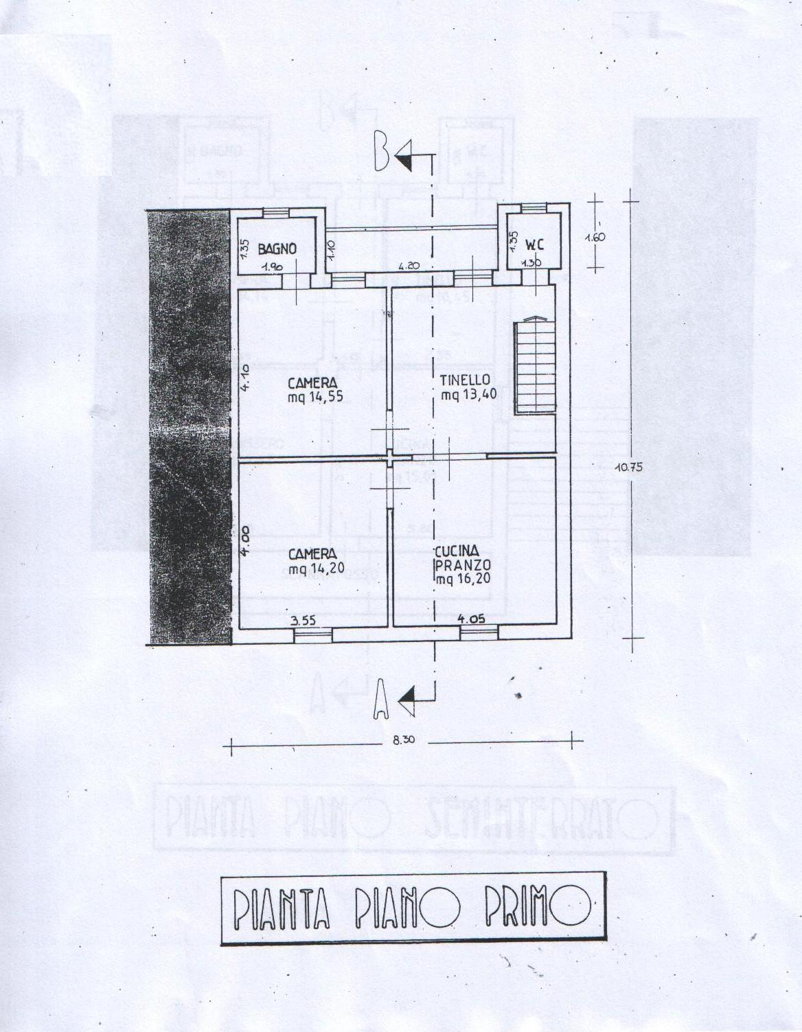 Planimetria 1/3 per rif. 8128