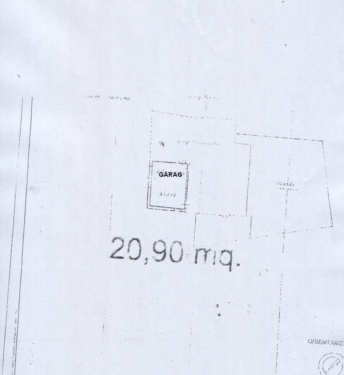 Planimetria 3/4 per rif. 8125