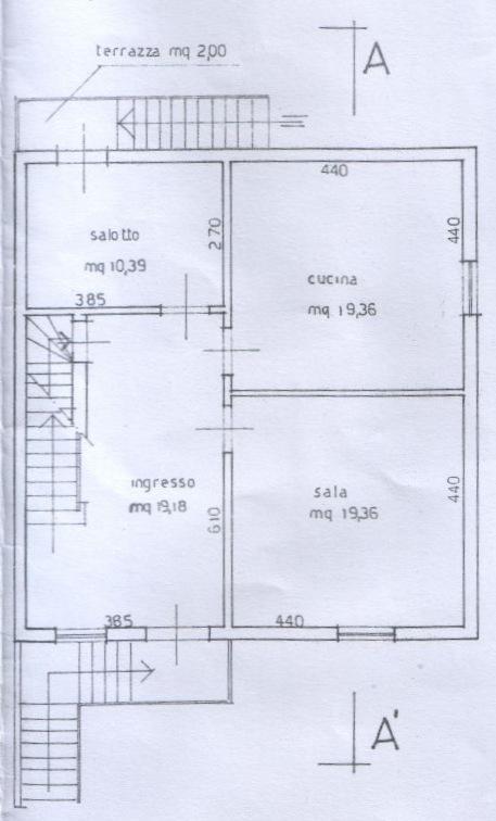 Planimetria 3/5 per rif. 6709-03