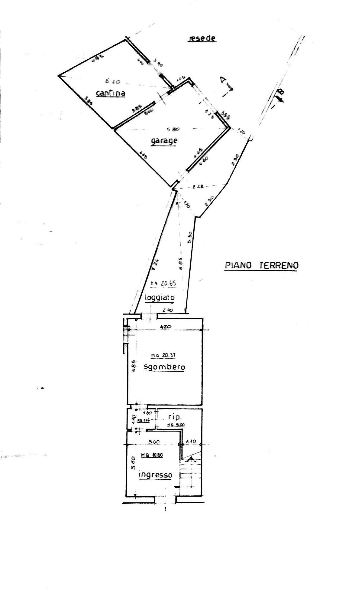 Planimetria 2/3 per rif. 8503