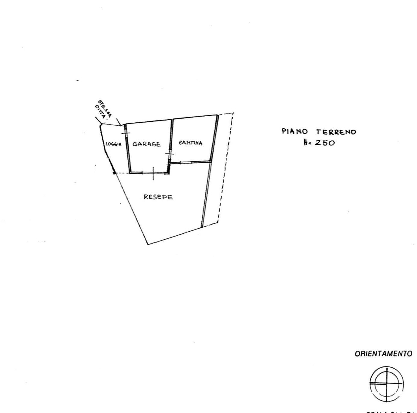 Planimetria 1/3 per rif. 8503