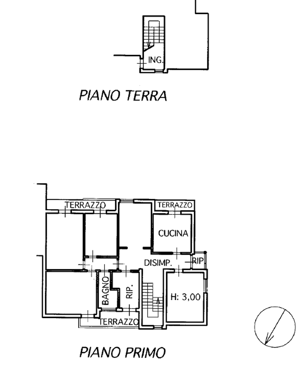 Planimetria 1/2 per rif. 8515-2