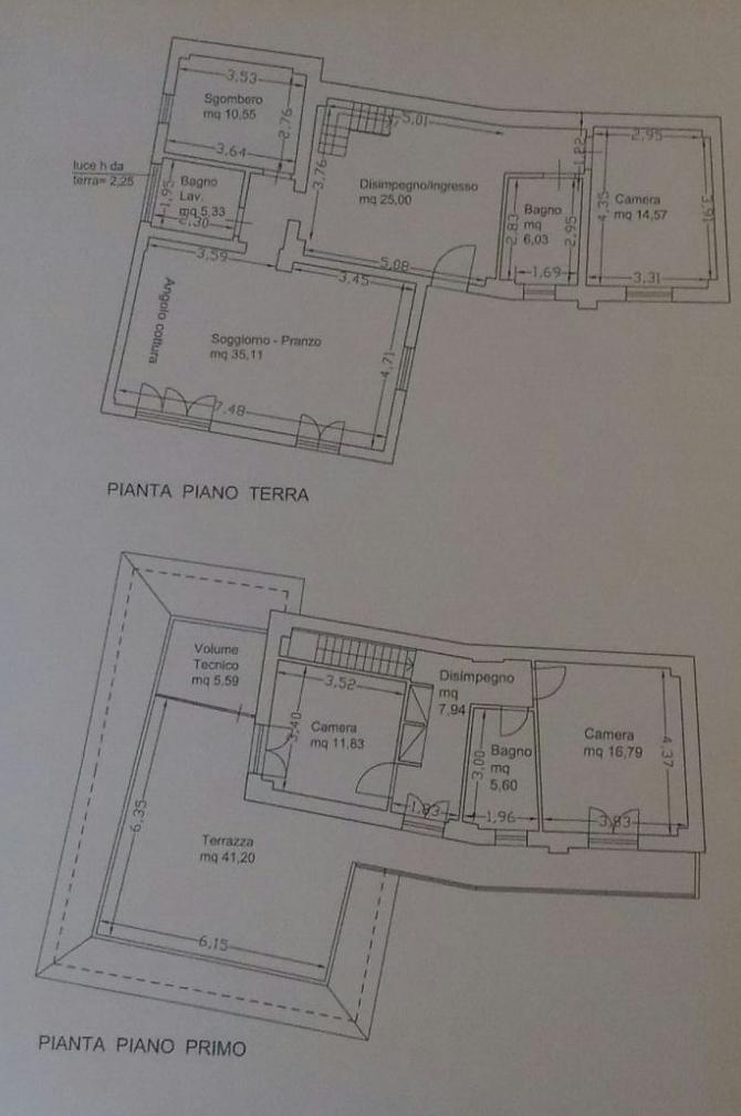 Planimetria 1/2 per rif. 8525