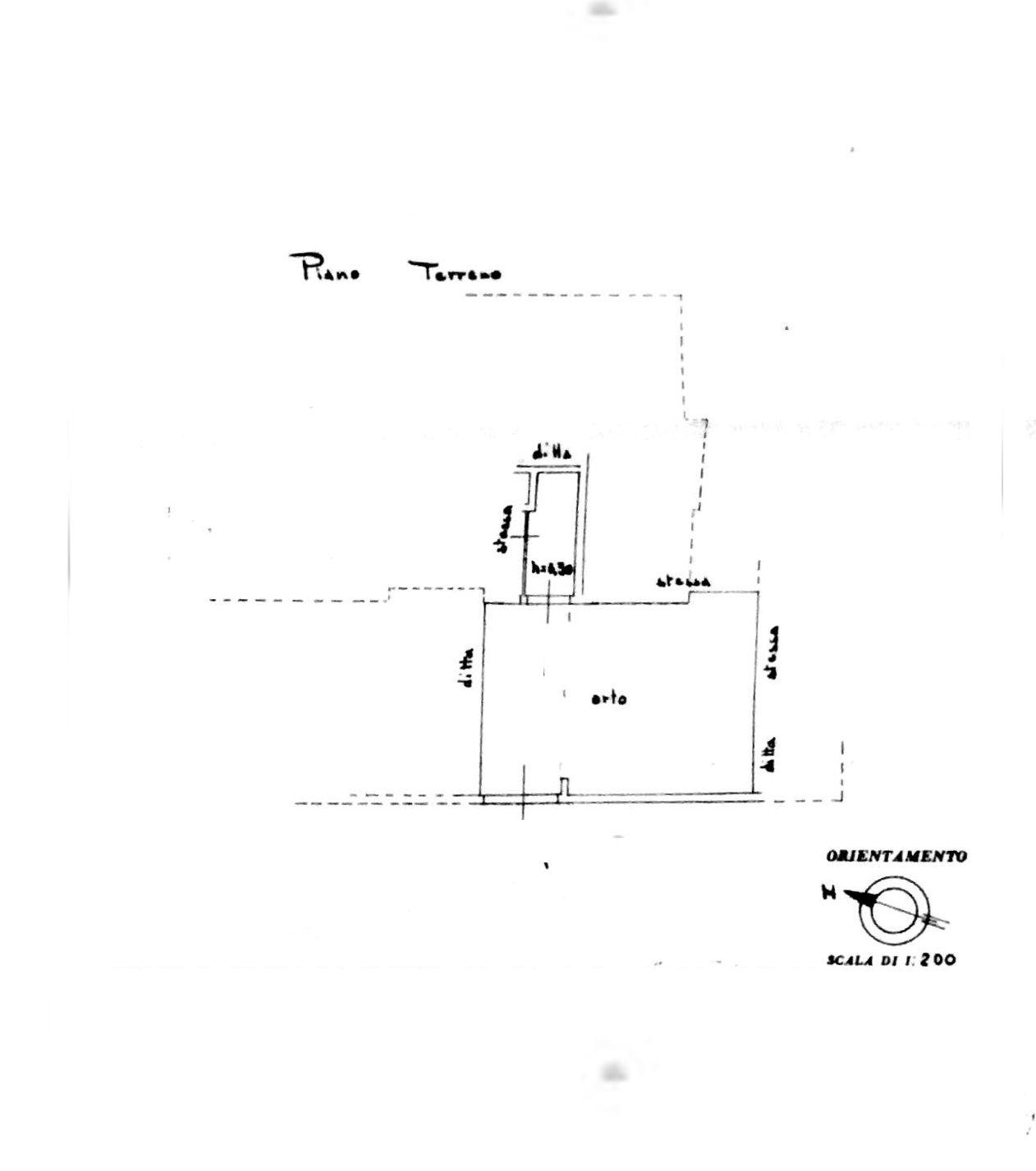 Planimetria 3/4 per rif. 8559