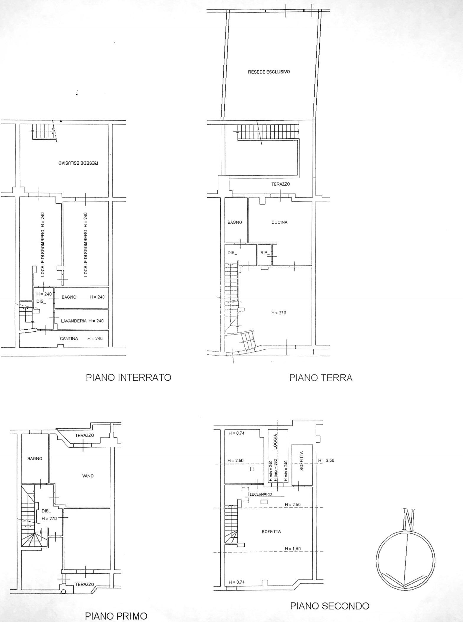 Planimetria 1/2 per rif. 8584