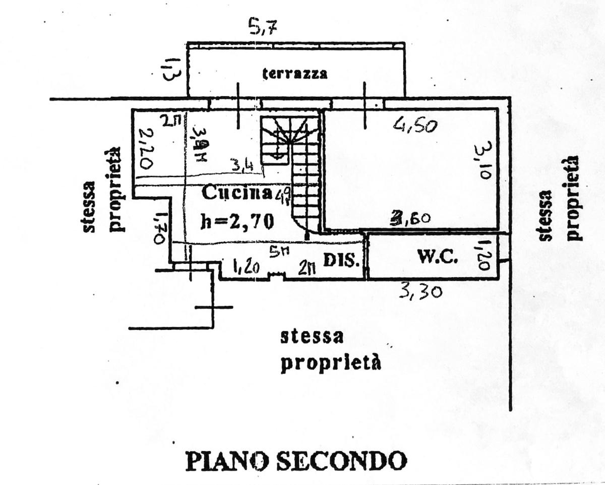 Planimetria 1/4 per rif. 8615