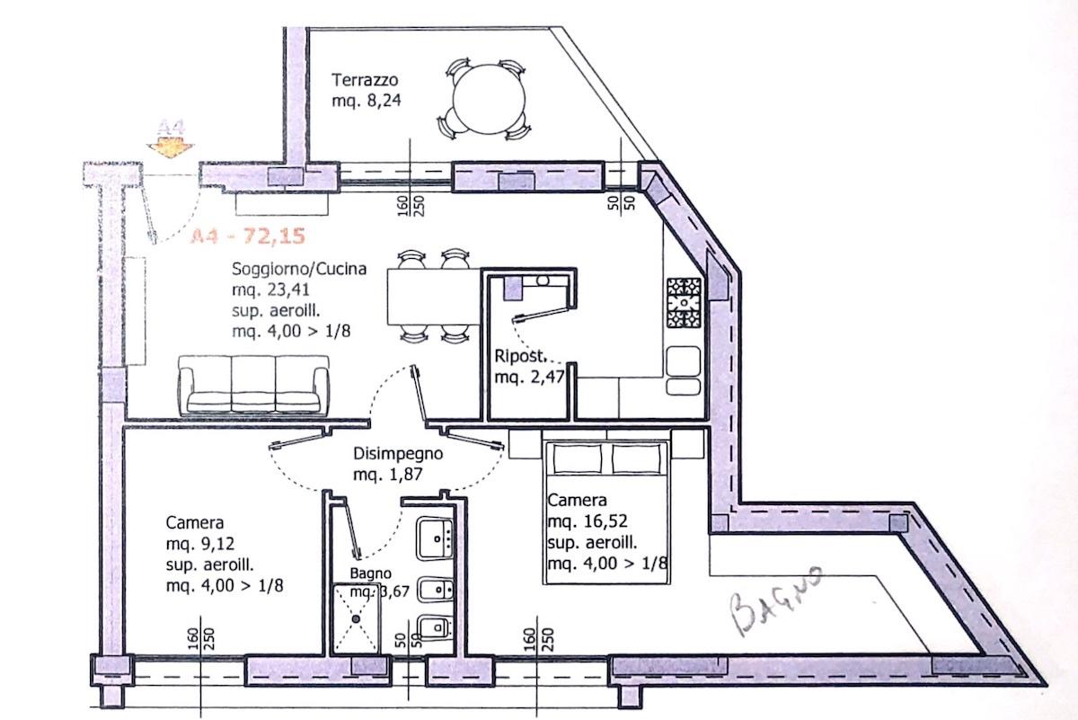 Planimetria 1/1 per rif. 8647