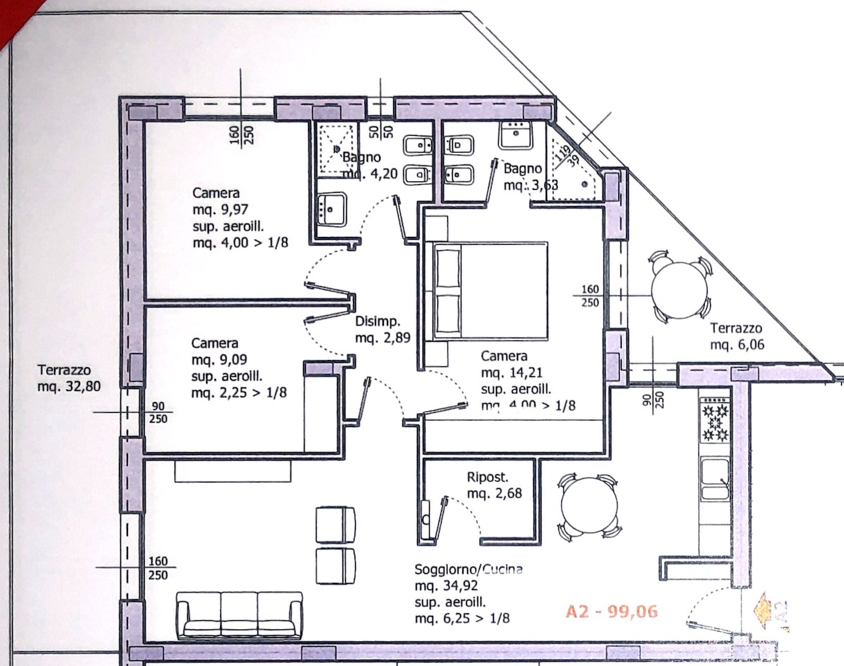 Planimetria 1/1 per rif. 8645