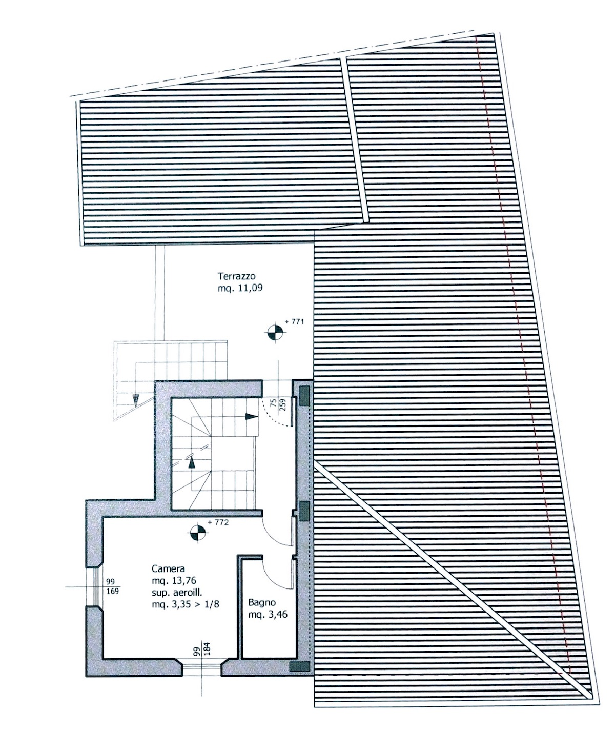 Planimetria 3/4 per rif. 8654
