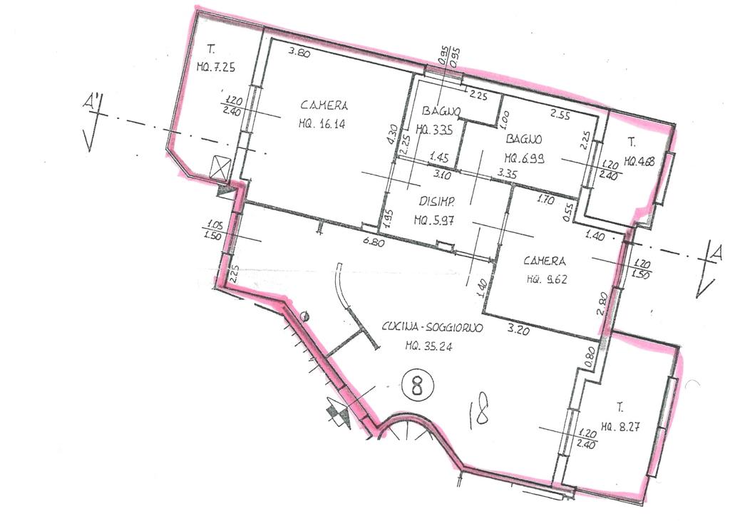 Planimetria 1/2 per rif. 7074-06