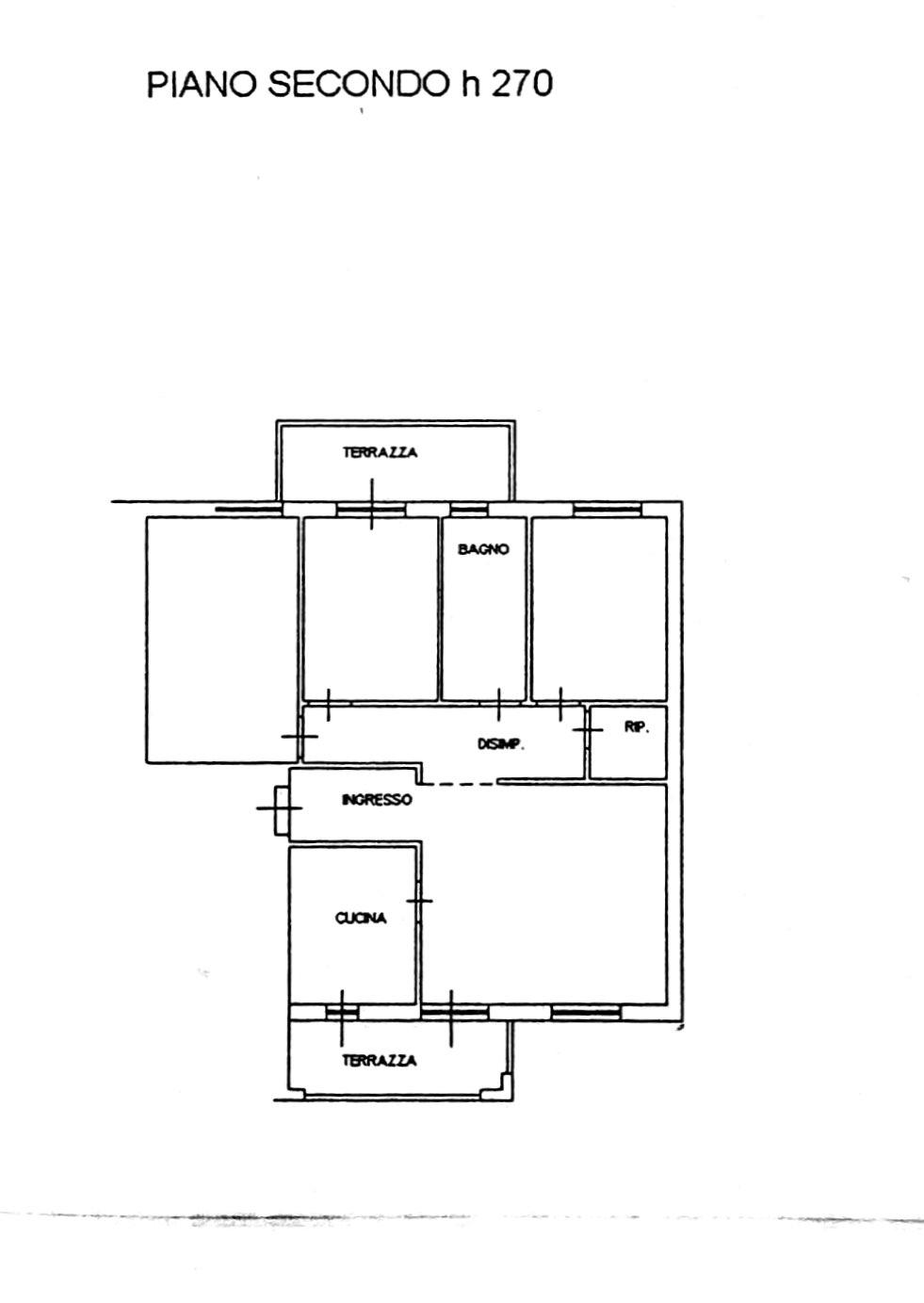 Planimetria 1/3 per rif. 8640