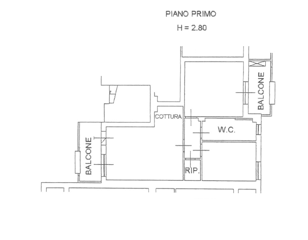 Planimetria 1/3 per rif. 8620