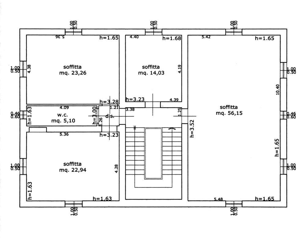 Planimetria 3/4 per rif. 8695
