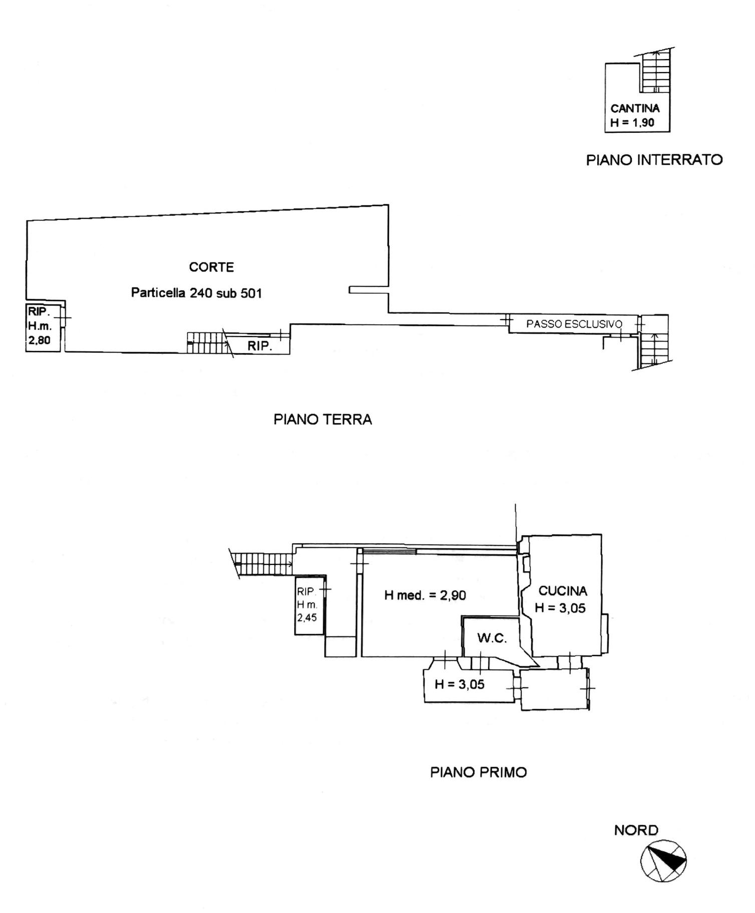 Planimetria 1/2 per rif. 8723