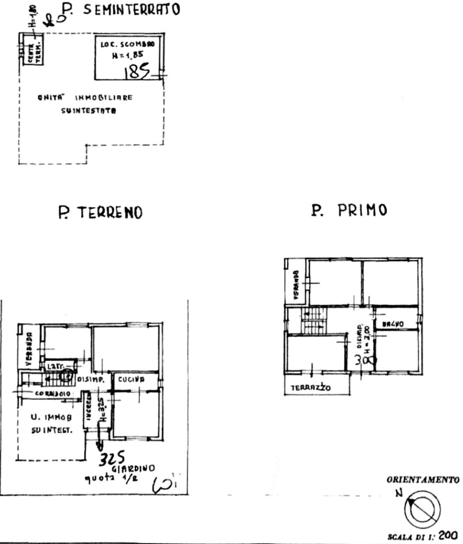 Planimetria 1/3 per rif. 8718