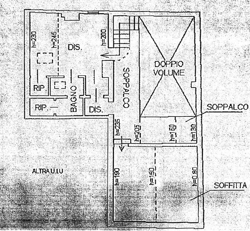 Planimetria 2/2 per rif. 8736