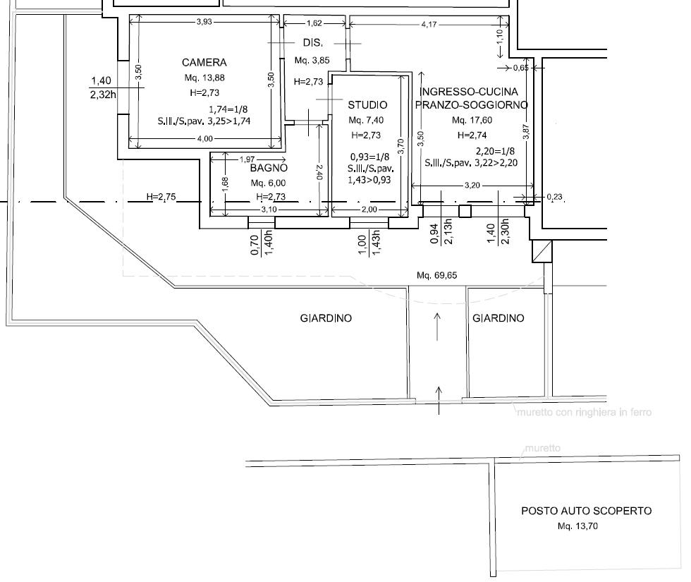 Planimetria 2/3 per rif. 8741