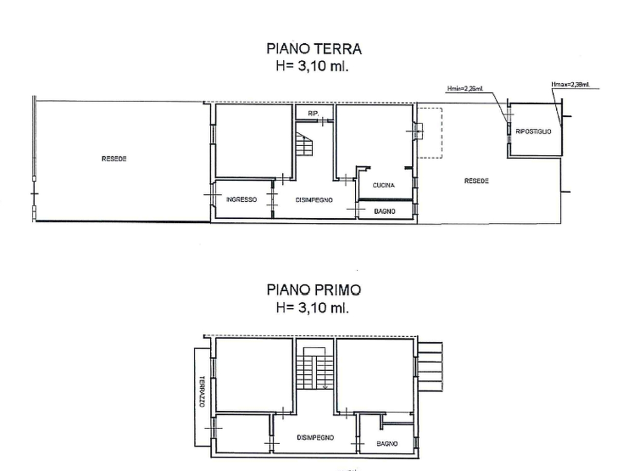 Planimetria 1/2 per rif. 8051