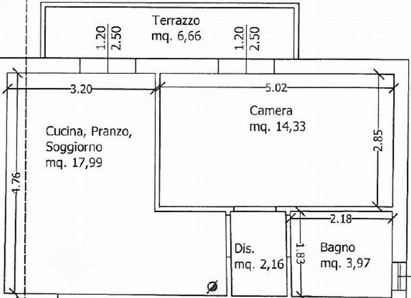 Planimetria 1/2 per rif. 8750