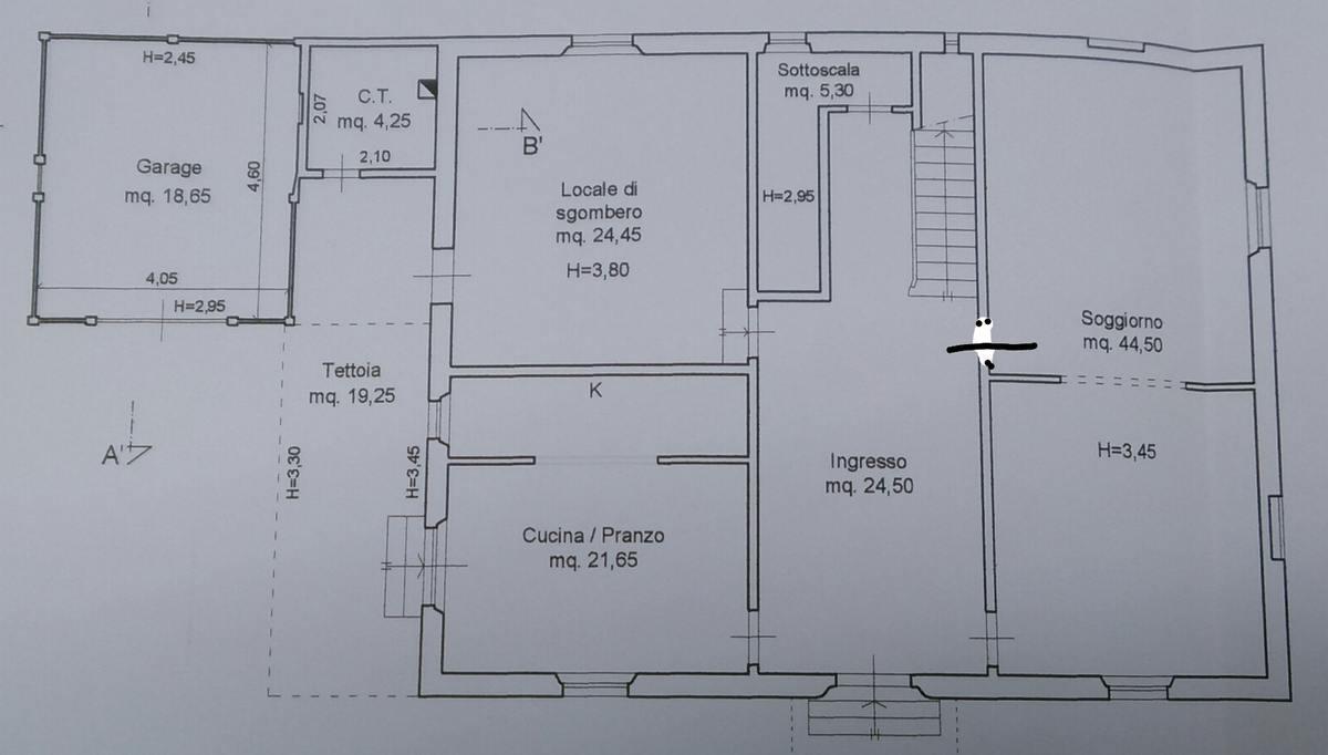 Planimetria 1/3 per rif. 8745