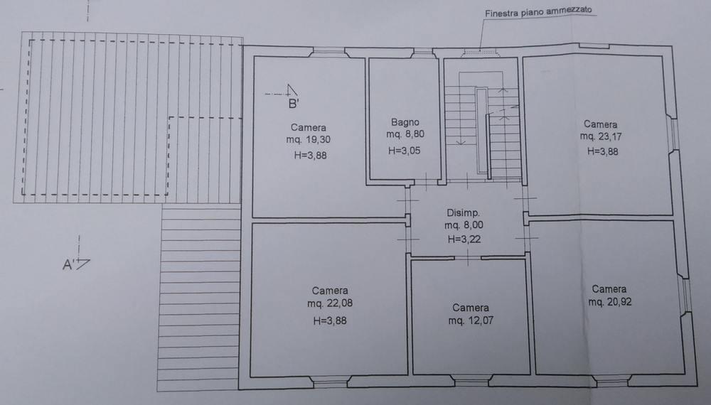 Planimetria 2/3 per rif. 8745
