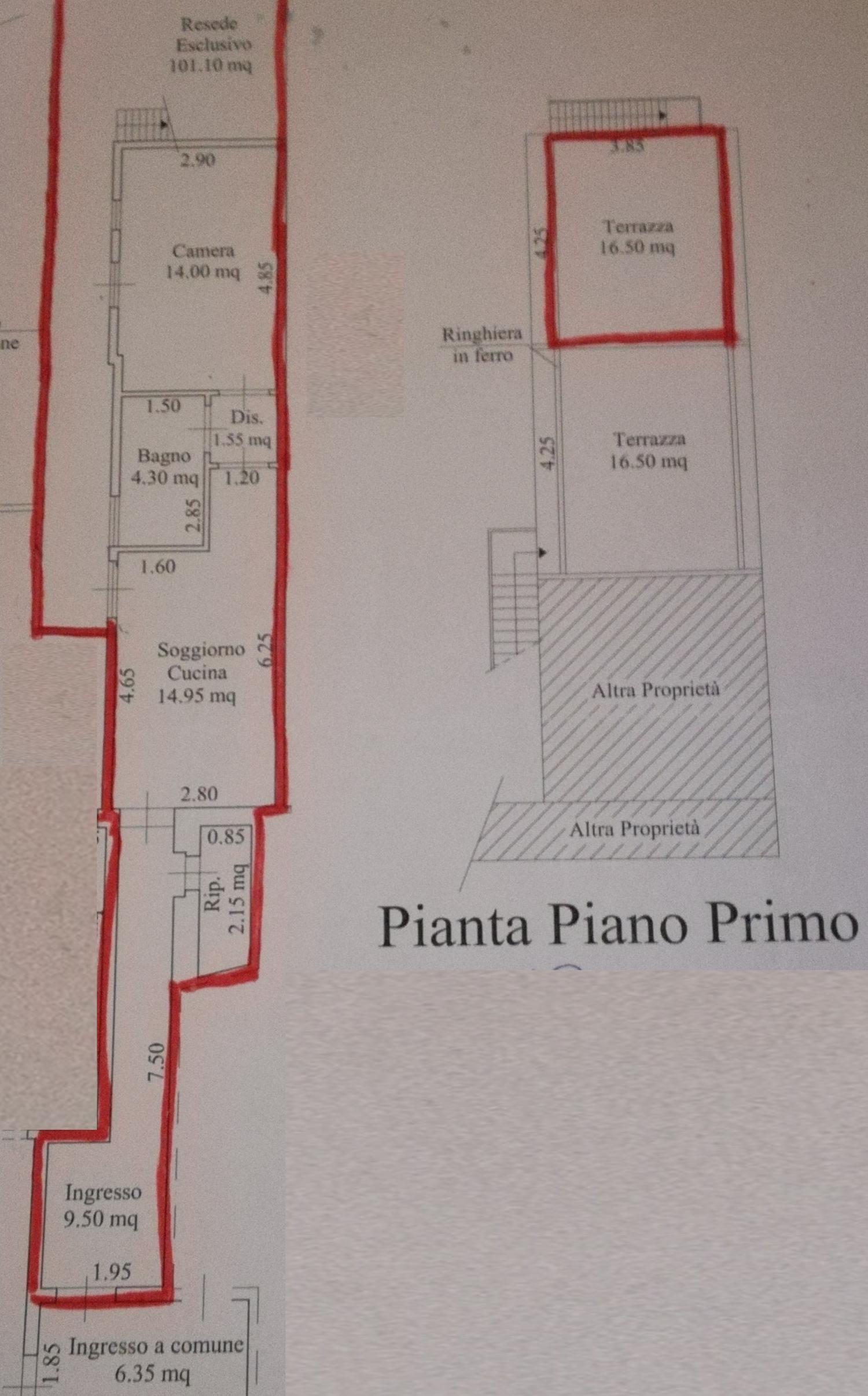 Planimetria 1/3 per rif. 8754