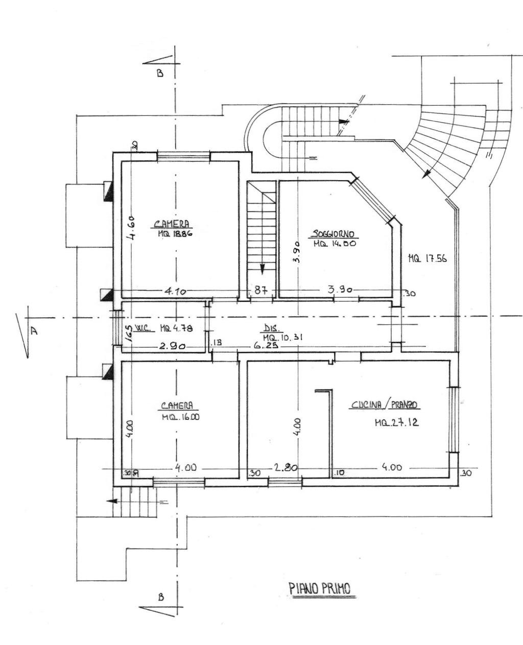 Planimetria 1/2 per rif. 8772