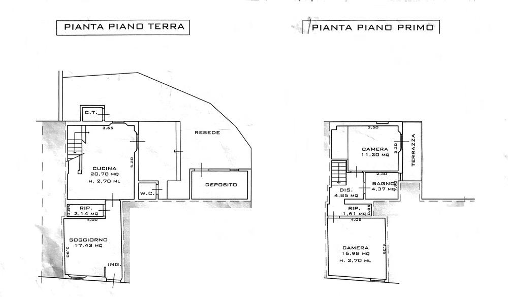 Planimetria 1/3 per rif. 8790