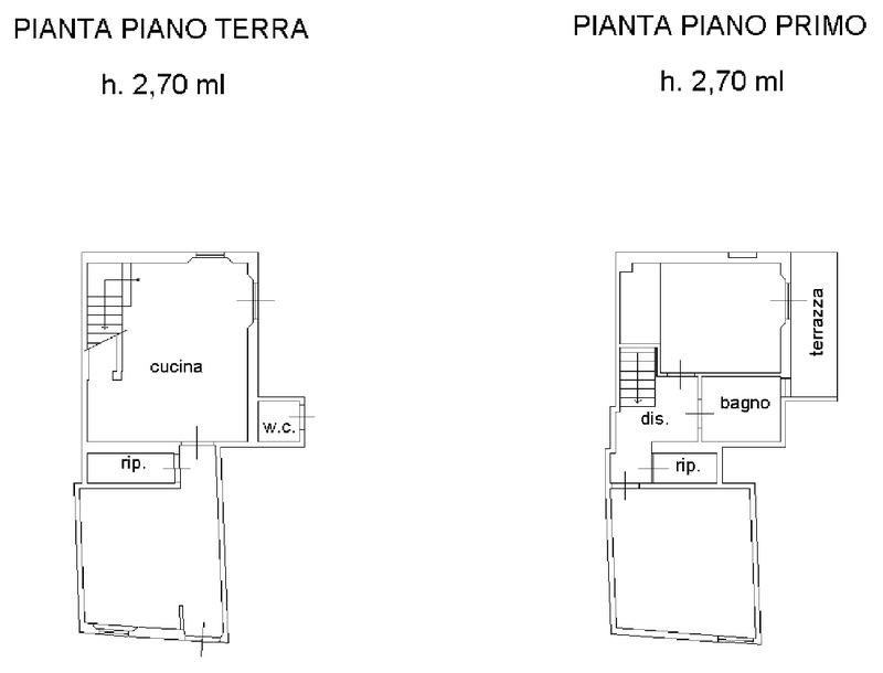 Planimetria 2/3 per rif. 8790