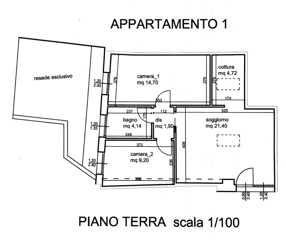 Planimetria 1/1 per rif. 8798