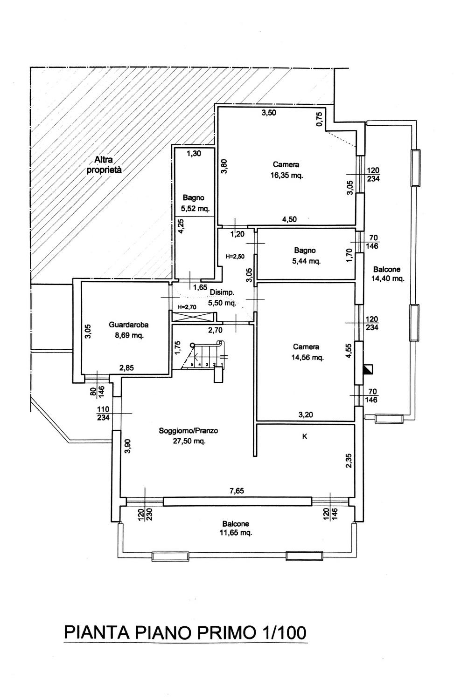 Planimetria 1/2 per rif. 8802-02