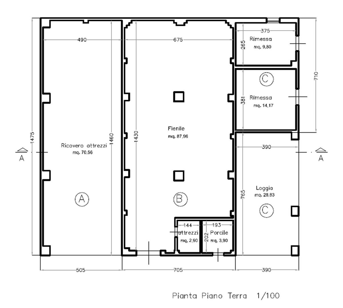 Planimetria 3/3 per rif. 8797