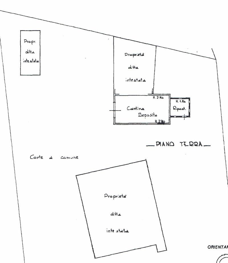 Planimetria 4/5 per rif. 8560