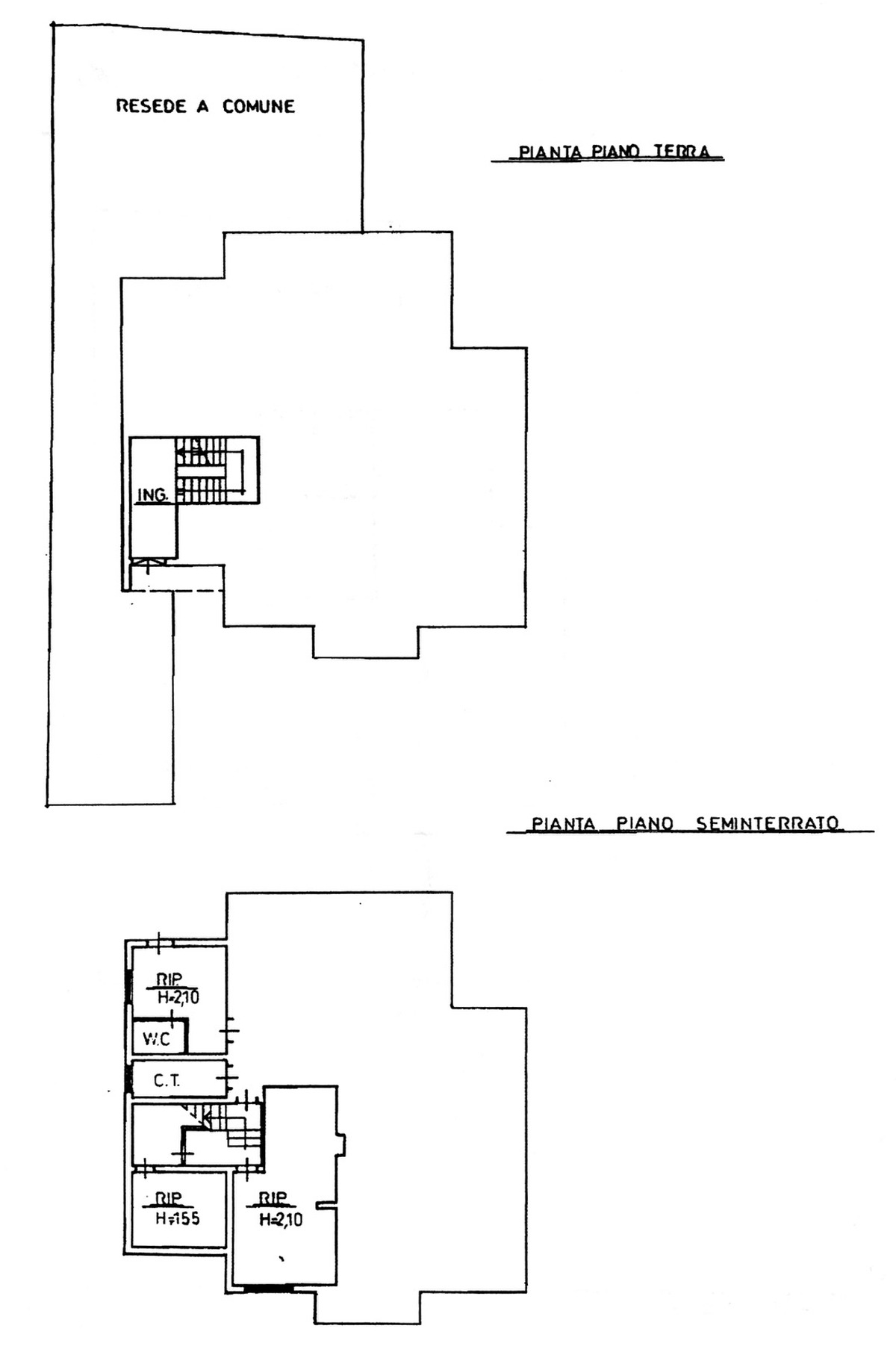 Planimetria 2/3 per rif. 8807