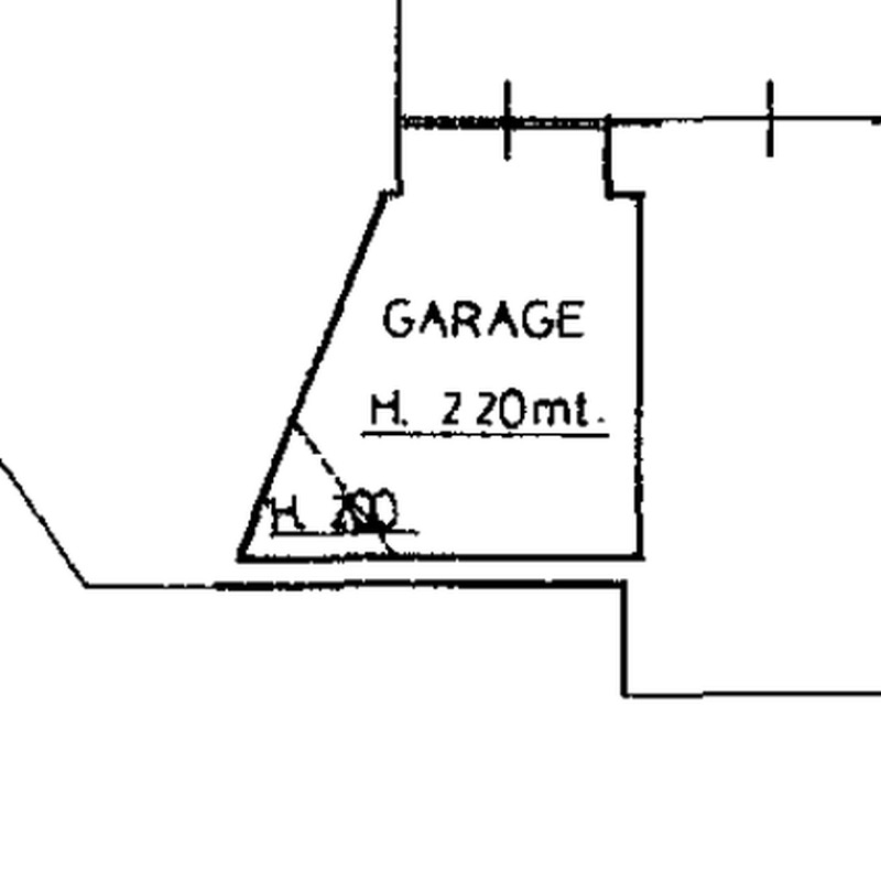 Planimetria 3/4 per rif. 8824