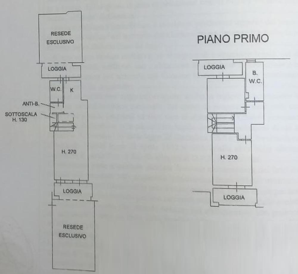 Planimetria 1/3 per rif. 8835