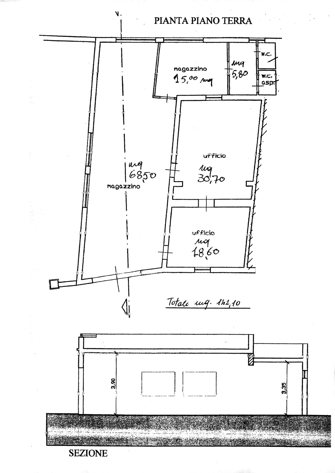 Planimetria 1/1 per rif. 8839