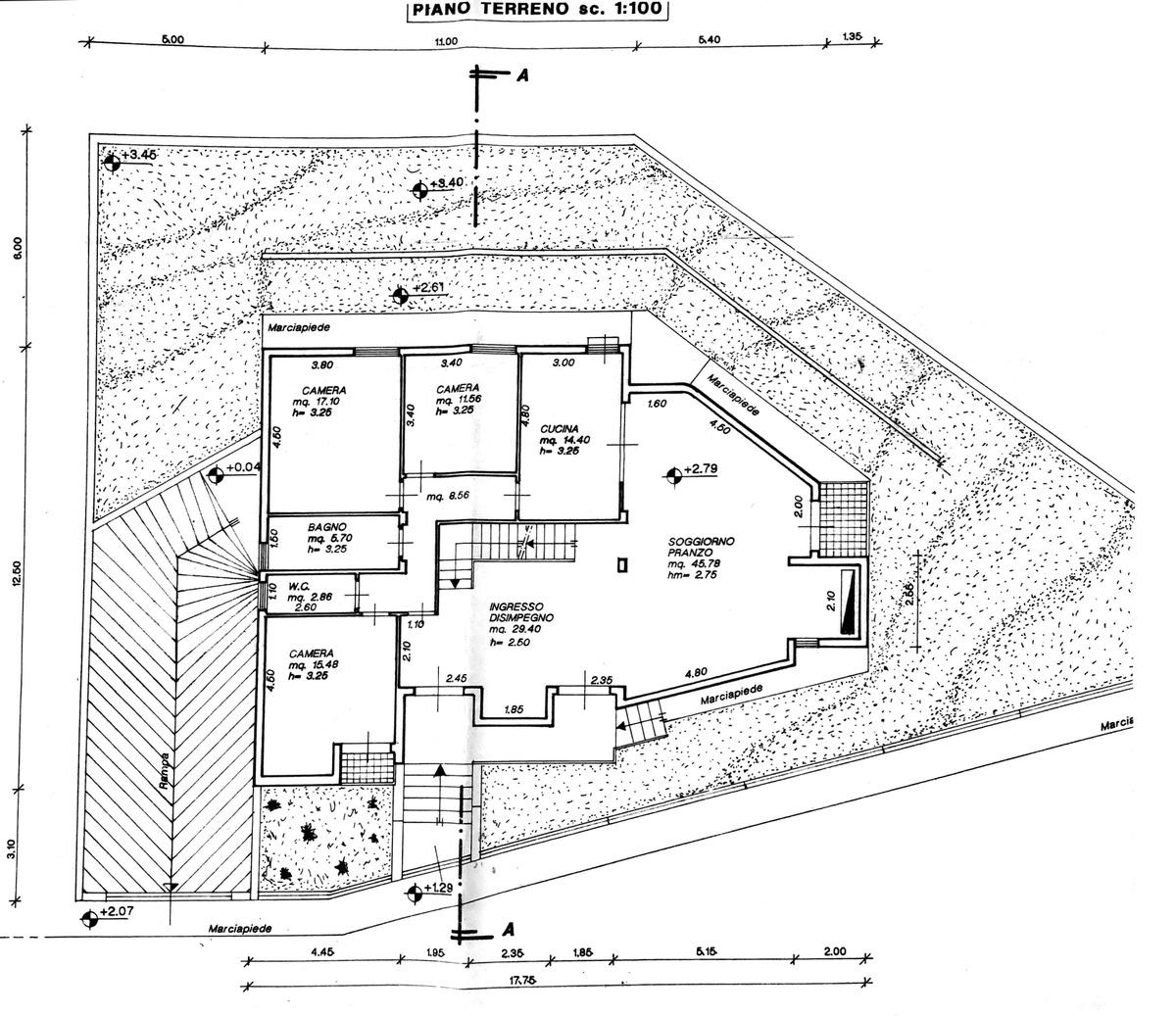 Planimetria 1/3 per rif. 8752