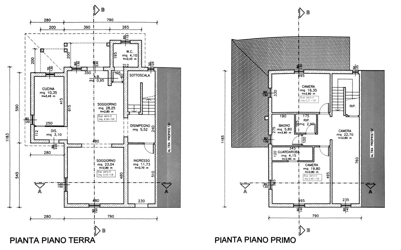 Planimetria 1/4 per rif. 8176-02