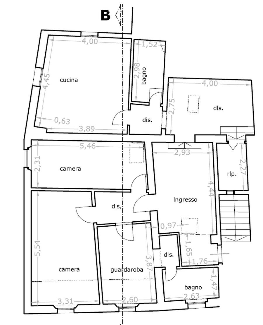 Planimetria 1/3 per rif. 8846