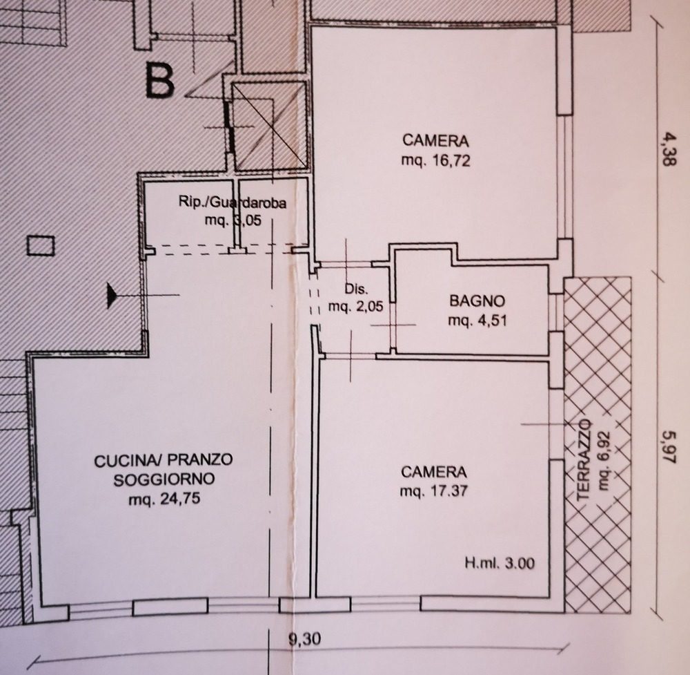 Planimetria 1/2 per rif. 8850