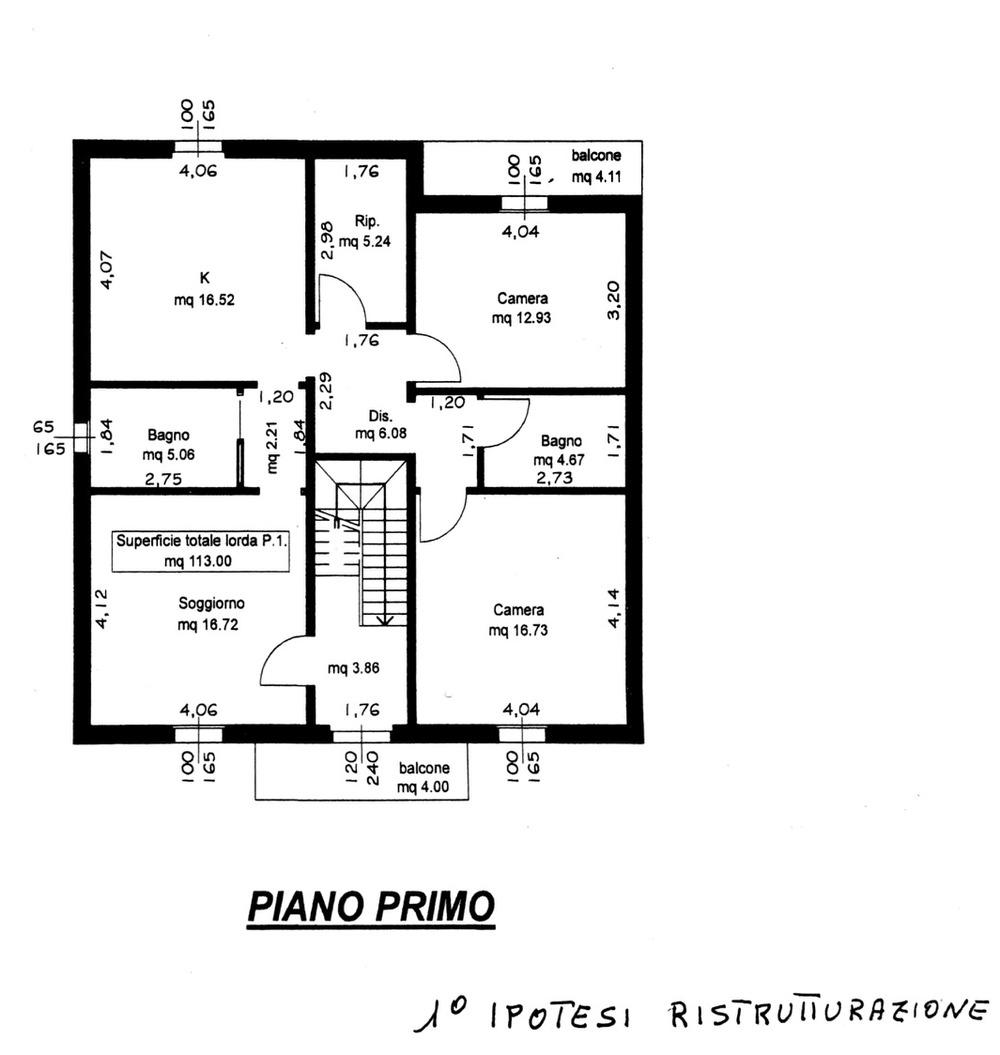Planimetria 2/4 per rif. 7886-02